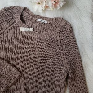 NWT Madewell Brown Crocheted Sweater